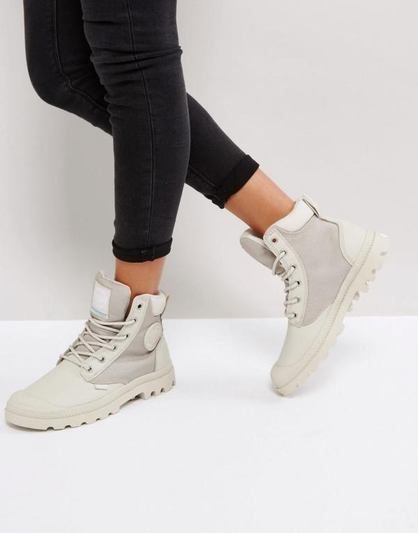 Lyst - Palladium Pampa Silver Birch Sports Cuff Flat Ankle