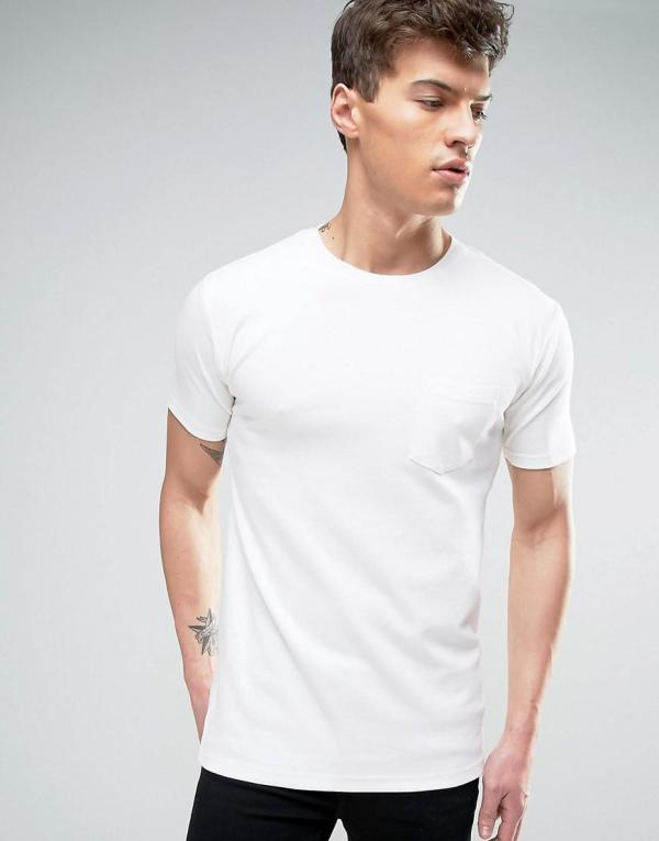 Redefined Rebel T-shirt In Heavy Jersey With Pocket