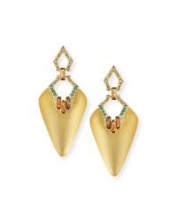 Alexis bittar Lucite Dangle Earrings in Metallic | Lyst