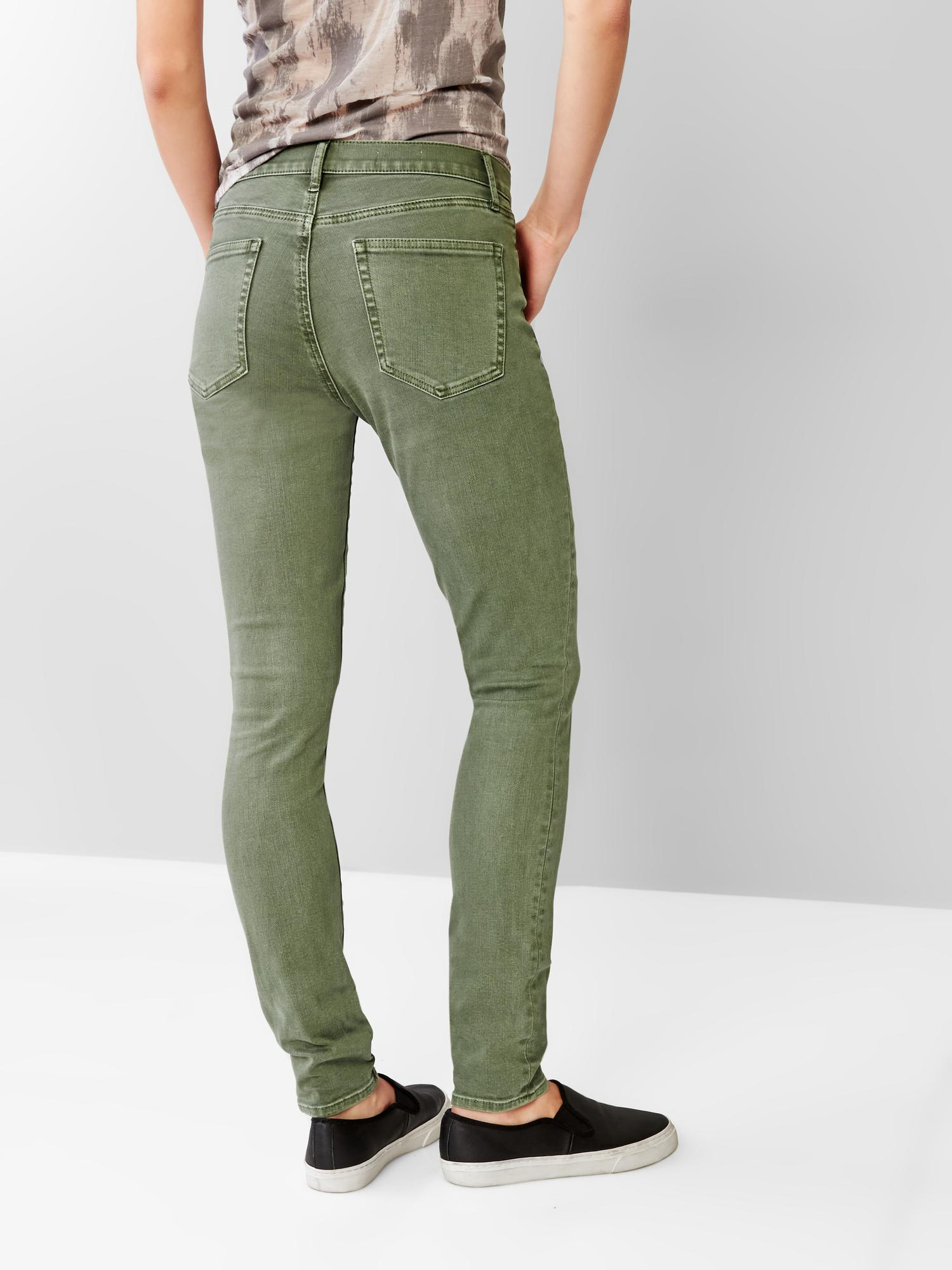 Gap 1969 Resolution True Skinny Jeans in Green vintage palm  Lyst