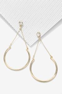 Nasty gal Hana Chain Earrings in Metallic   Lyst