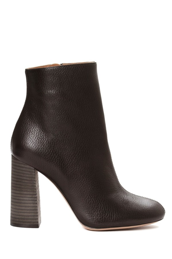 Chlo Leather Ankle Boot In Black Lyst