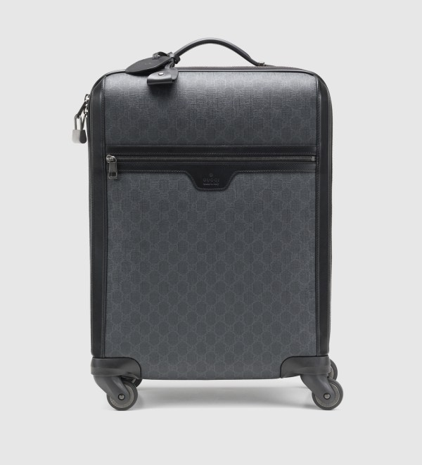 4d94e909c Gucci Gg Supreme Canvas Wheeled Carry- Suitcase In Black Men Lyst