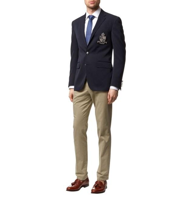 Polo Ralph Lauren Crest Wool Blazer In Blue Men