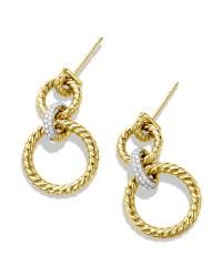 Lyst - David yurman Cable Doorknocker Earrings With ...