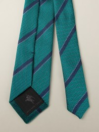 Lyst - Burberry Striped Tie in Green for Men
