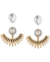 Earring Jacket Gold Silver Crystal Ear Jackets Earrings ...