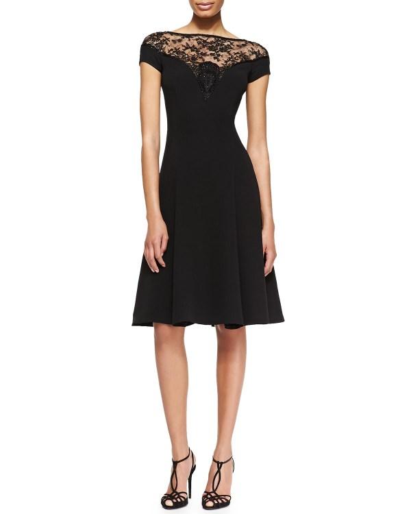 Ralph Lauren Collection Erica Full Beaded-top Dress In