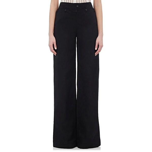 Barneys York Women' Wide-leg Sailor Pants In Black