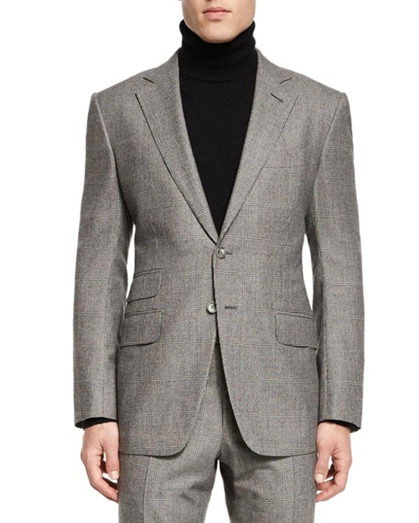 Tom Ford 'connor Base Windowpane Two-piece Suit In Gray Men Lyst