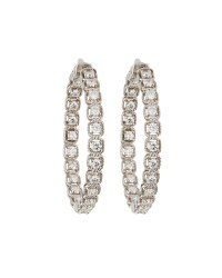 Neiman marcus 14k Diamond Illusion Hoop Earrings in ...