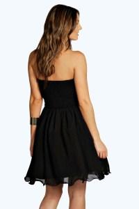 Boohoo Lia Boutique Bandeau Embellished Prom Dress in ...