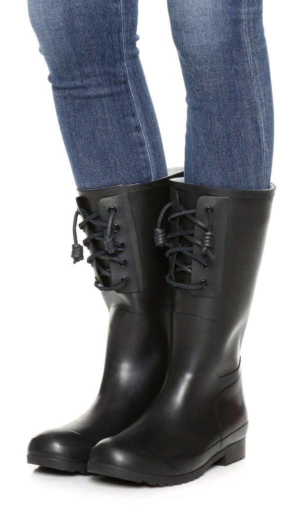 Sperry Top-sider Walker Spray Rain Boots In Black Lyst