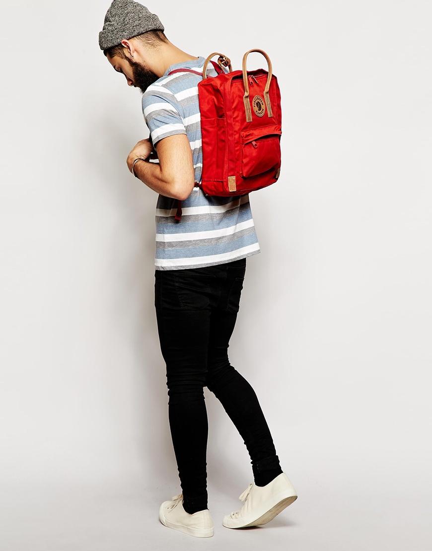 Fjallraven Kanken No 2 Backpack in Red for Men  Lyst