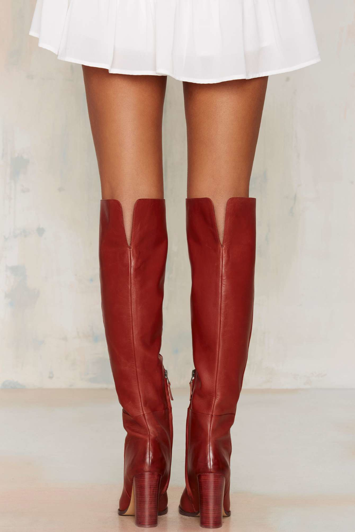 Lyst - Sam Edelman Rylan Knee-high Leather Boot in Red