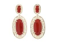 Kendra scott Darian Earrings in Red (Dark Red Onyx) | Lyst