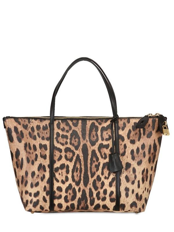 6cd67ef2f28 Dolce & Gabbana Escape Leopard Print Tote Bag Lyst