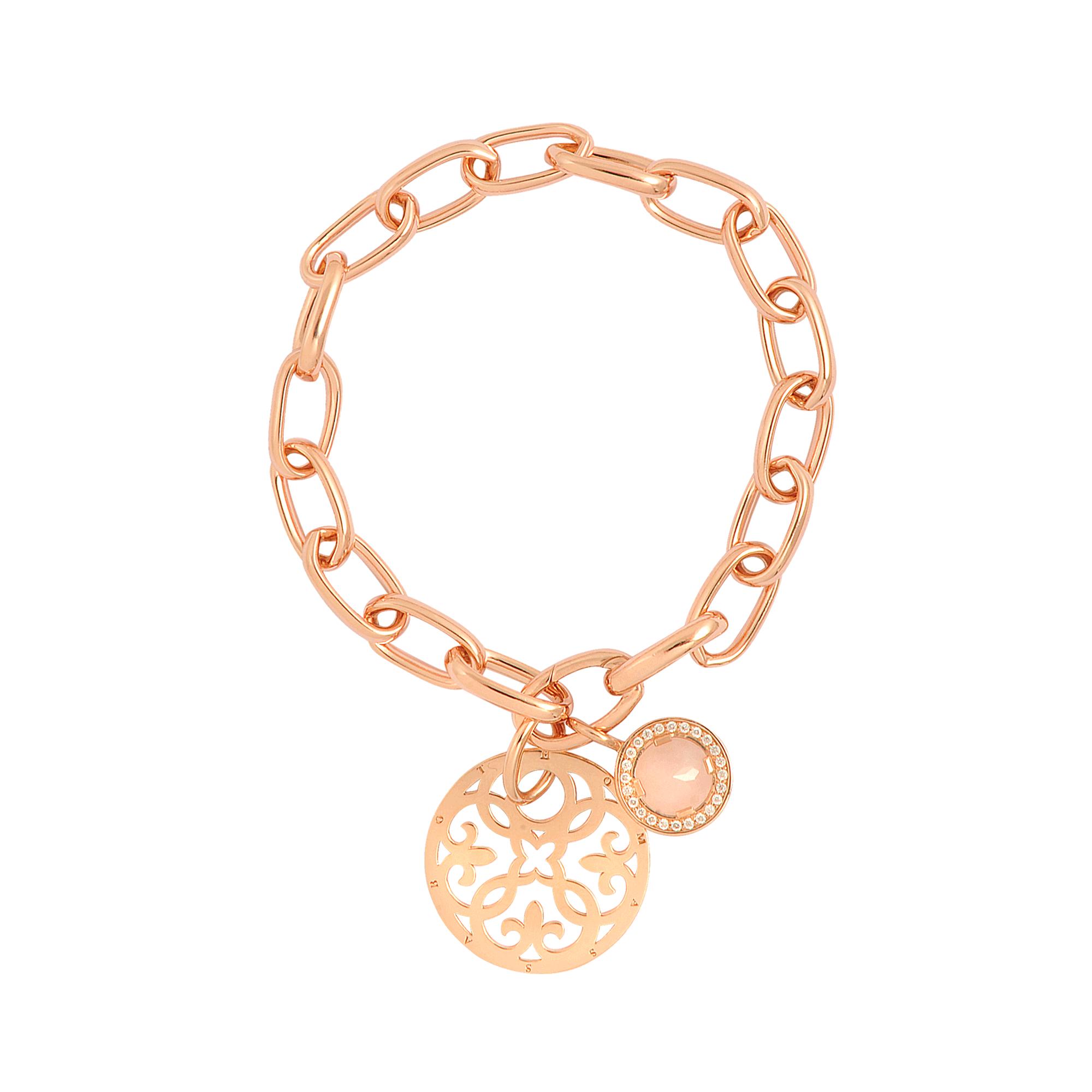 Thomas Sabo Rose Gold Charm Bracelet in Pink  Lyst