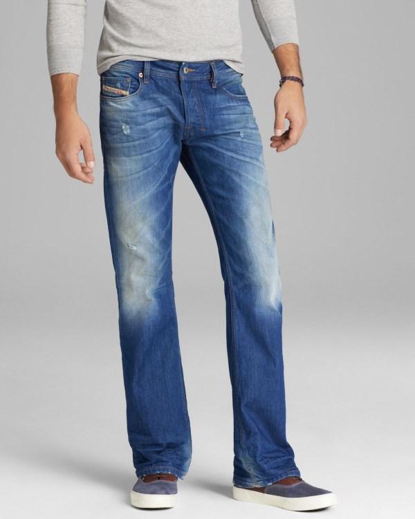 Lyst - Diesel Jeans Zatiny Bootcut Fit In 823u Blue Men