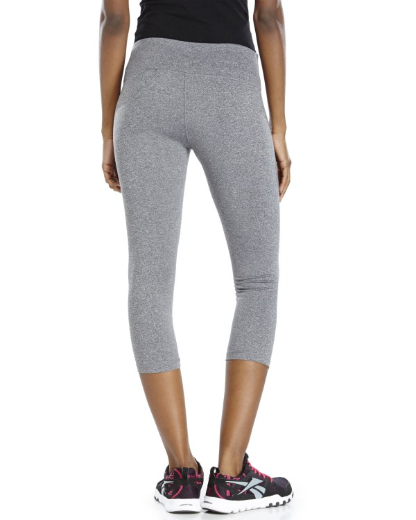 Lyst - Reebok Logo Athletic Capri Pants In Gray