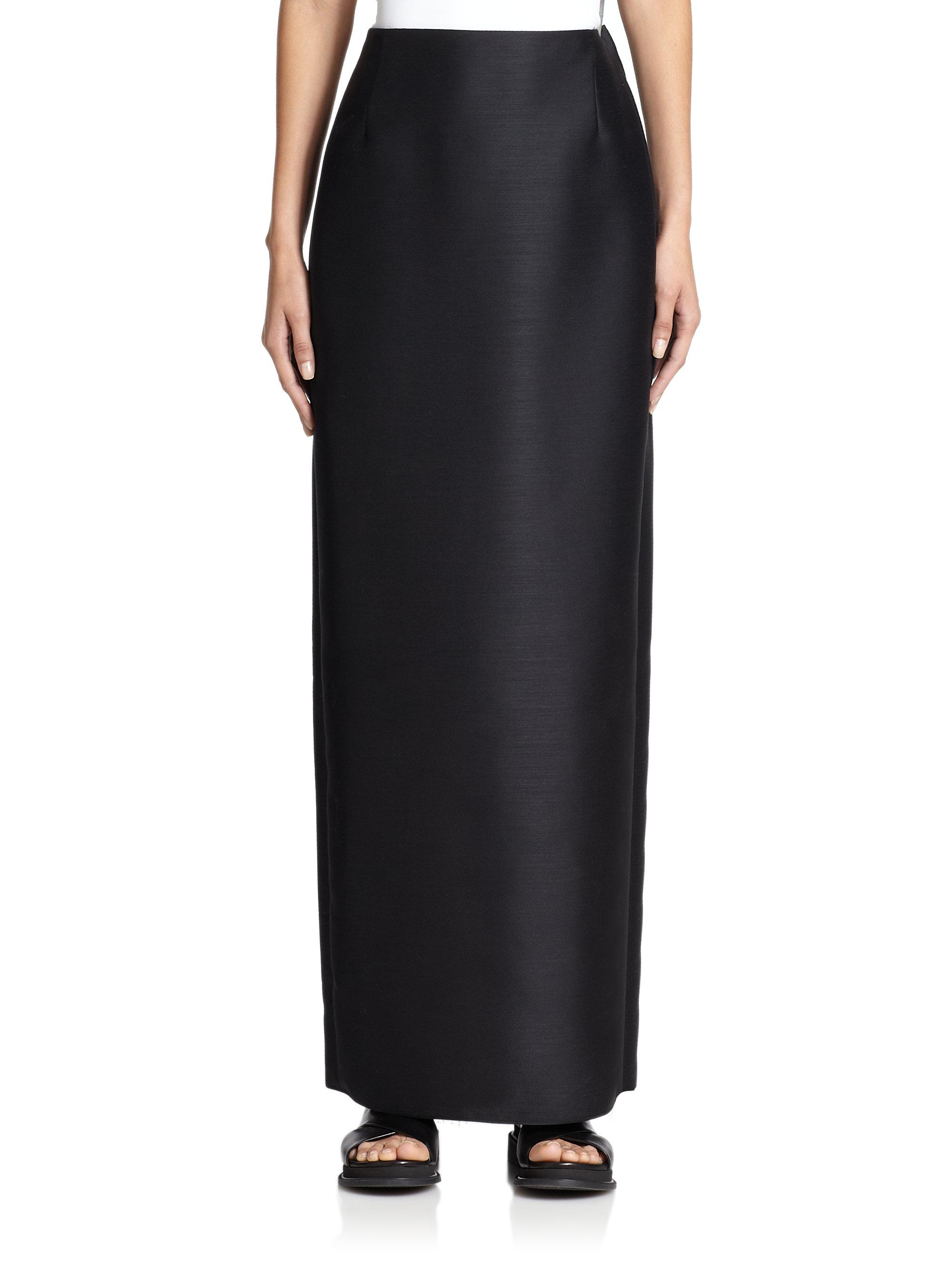Floor Length Black Pencil Skirt_Black Dresses_dressesss