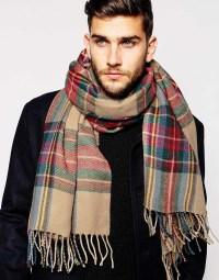 Asos Check Blanket Scarf for Men | Lyst