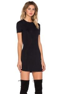 Lyst - Osklen Short Sleeve Mini Dress in Black