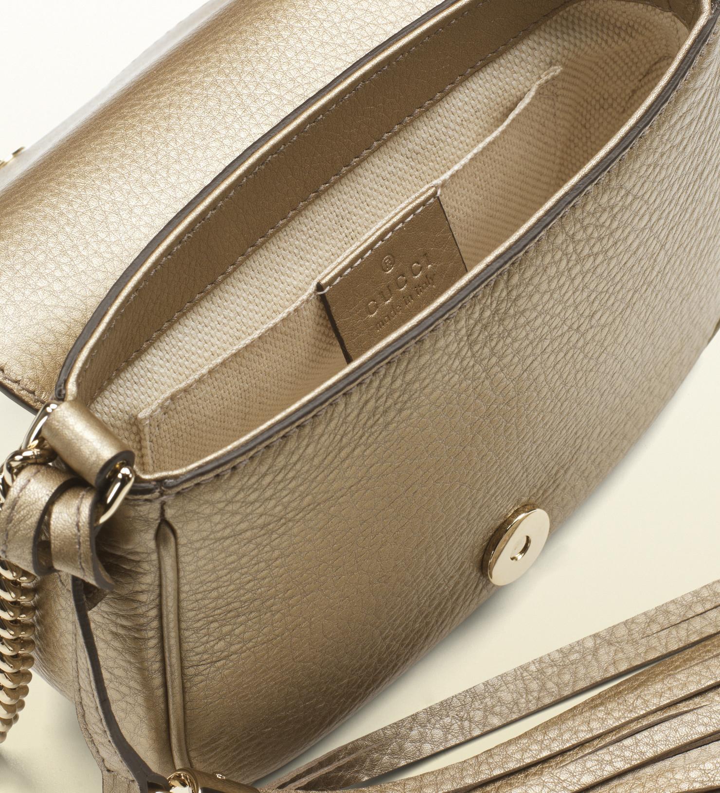 08068f13c534 Lyst Gucci Soho Metallic Leather Disco Bag In Purple - Modern Home ...