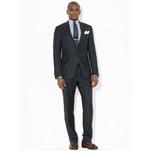 Lyst - Polo Ralph Lauren Two-button Charcoal Suit In Gray Men