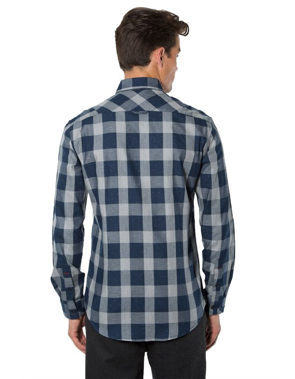 7 Diamonds -five Check Sportshirt In Blue Men Lyst