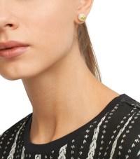 Tory burch Evie Pearl Stud Earring in White | Lyst