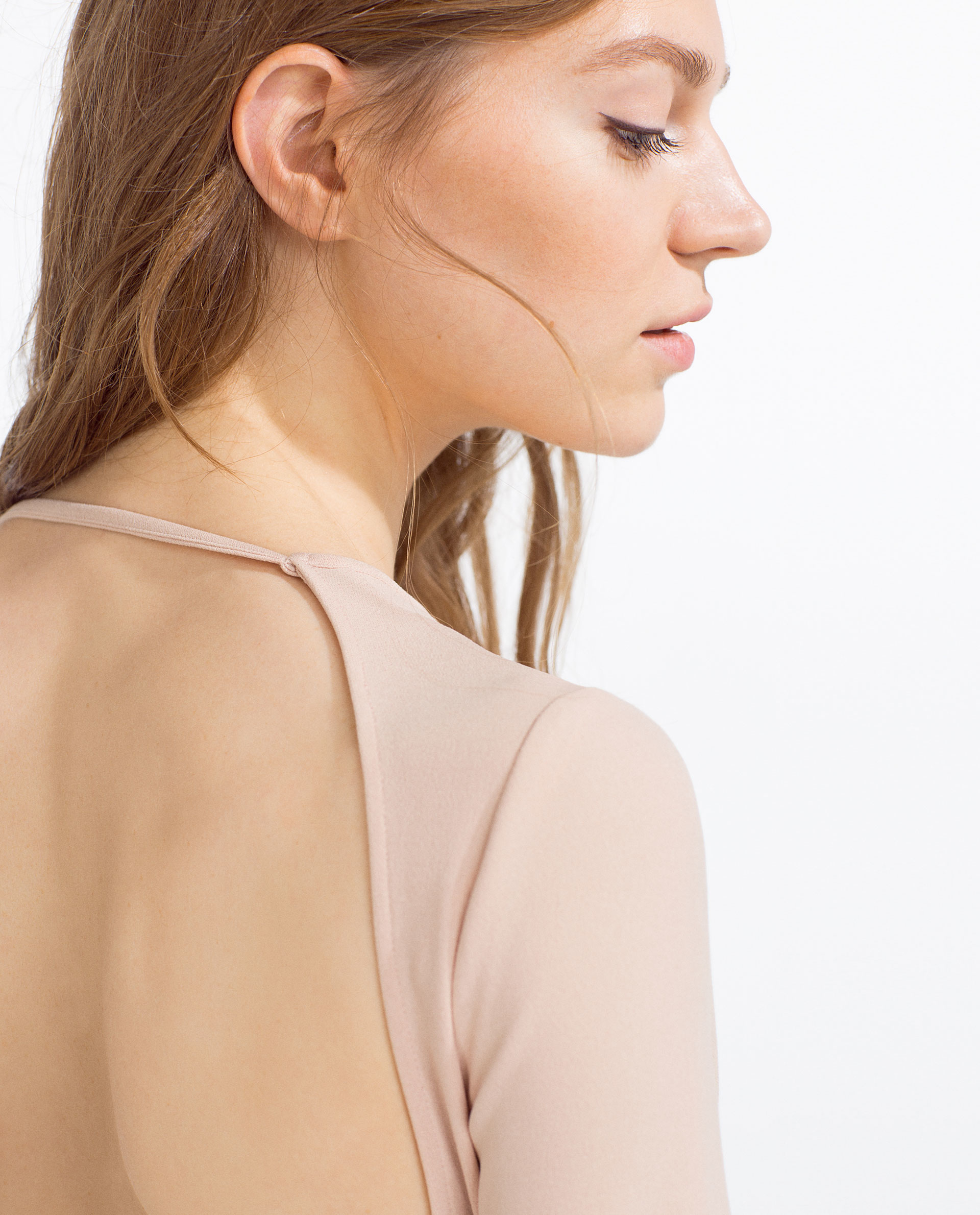 Zara Dress With Lowcut Back  Lyst