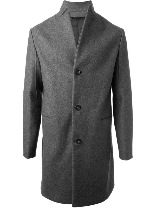 Fendi Single Breasted Coat In Gray Men Lyst