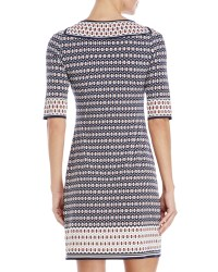 Lyst - Max studio Printed Boatneck Dress in Blue