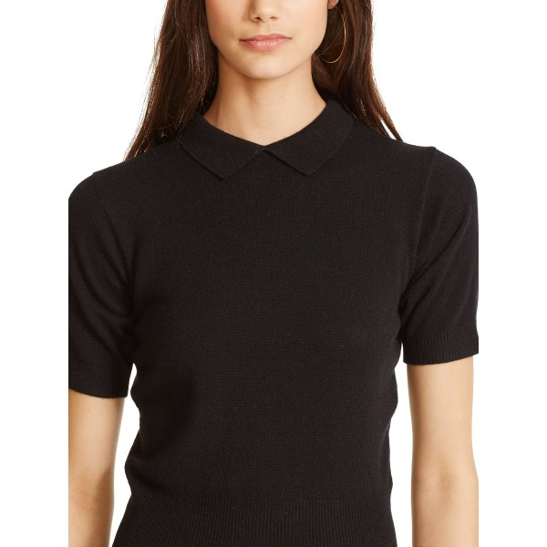 Lyst - Polo Ralph Lauren Cashmere Collared Sweater In Black