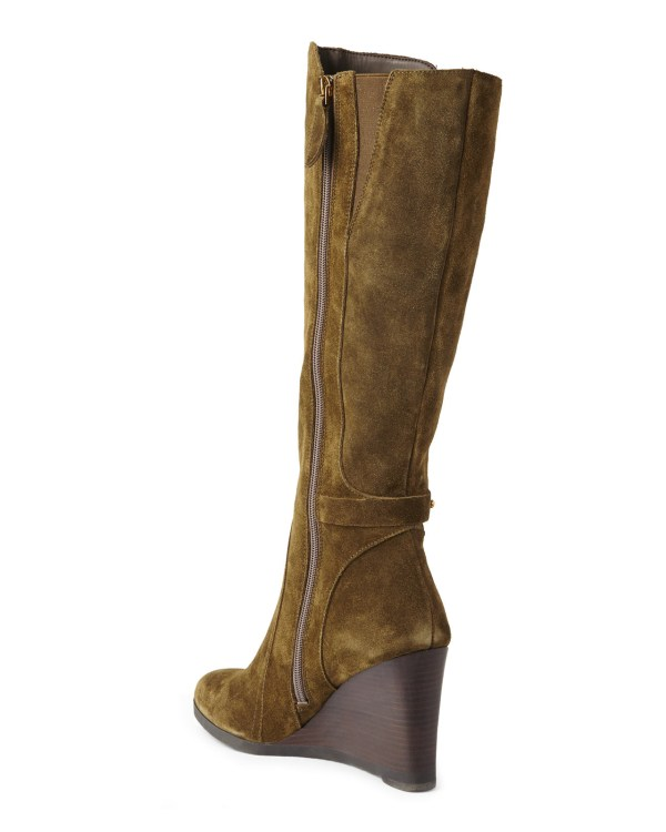 Lyst - Franco Sarto Olive Wedge Tall Boots In Green