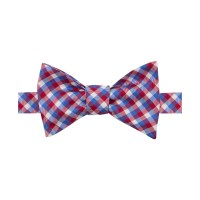 Tommy Hilfiger Microgingham Bow Tie in Red for Men | Lyst