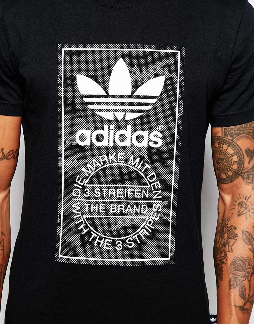 Lyst Adidas Originals T Shirt With Snow Camo Print