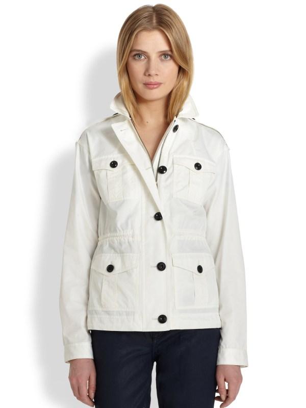 Burberry Brit Lasborough Anorak Jacket In White Lyst