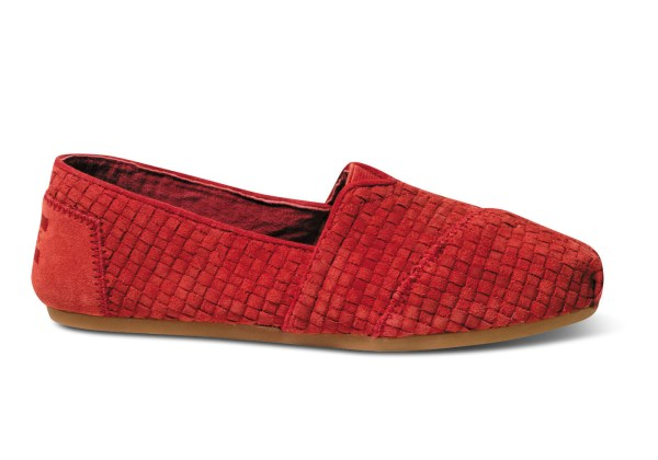 Toms Woven Suede Womens Classics In Red Lyst