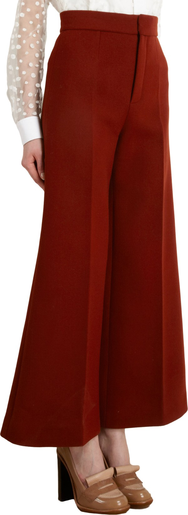 Chlo Wide Leg Gaucho Pants In Red - Lyst