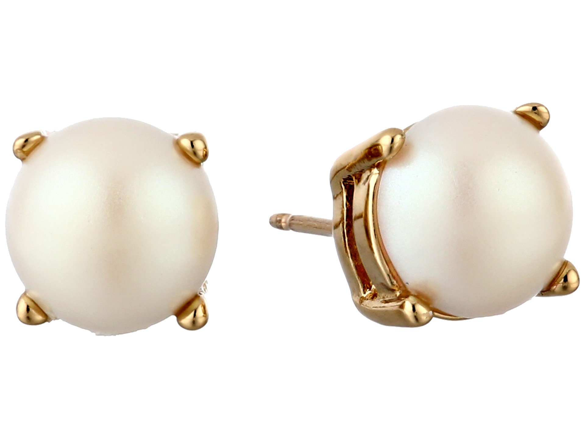 Kate spade new york Cueva Rosa Studs Earrings in White