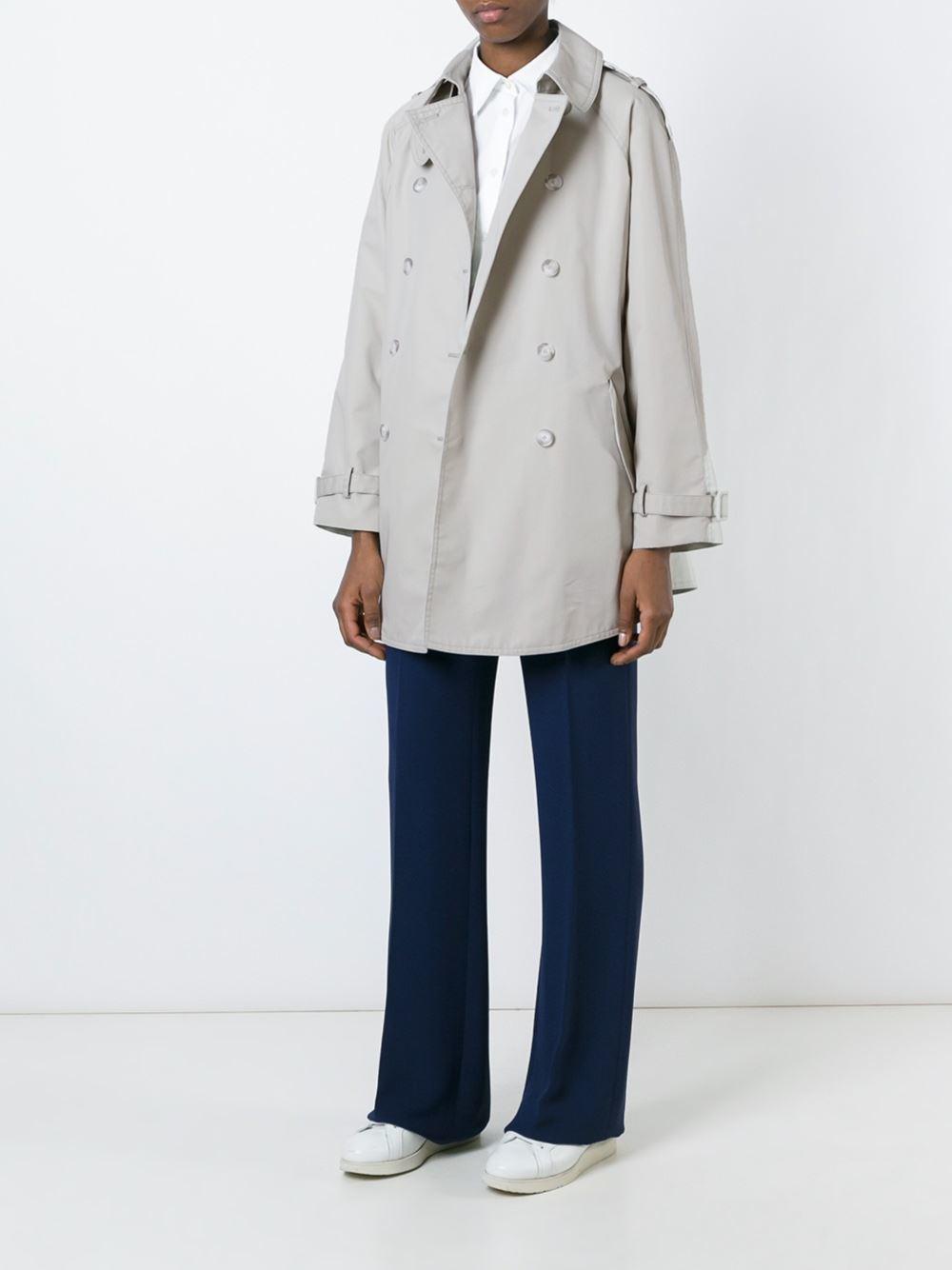 Stella Mccartney A Line Trench Coat In Blue Lyst