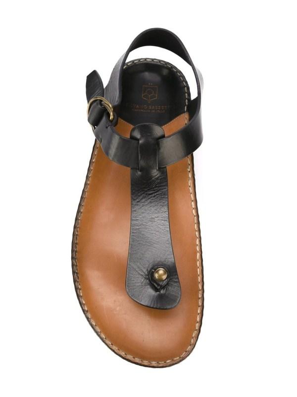 Silvano Sassetti T-bar Sandals In Black Men Lyst