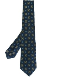 Lyst - Kiton Printed Tie in Blue for Men