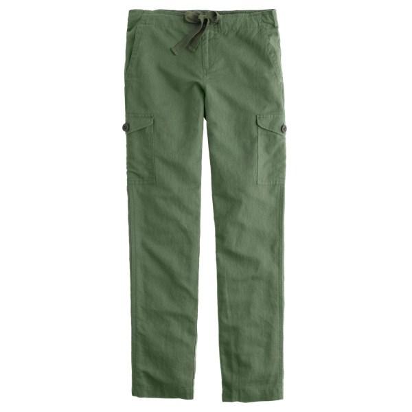 Crew Linen Cargo Pant In Green Lyst