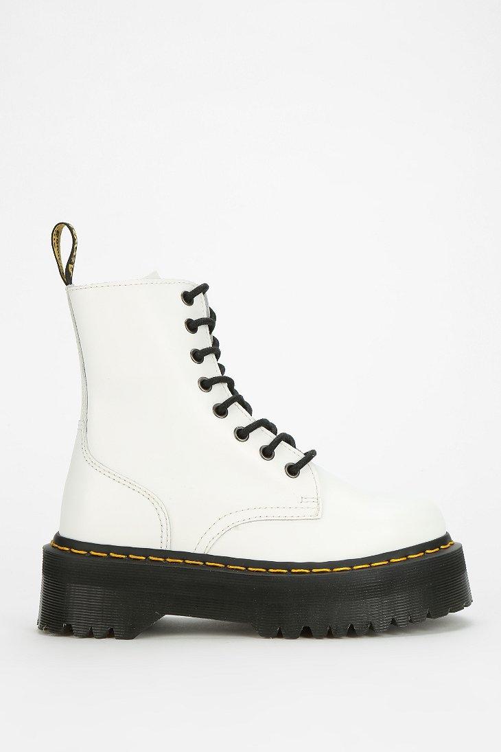 Dr Martens Jadon 8eye Platform Boot In White Lyst