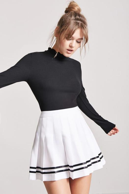 Lyst - Forever 21 Box Pleated Tennis Skirt in White