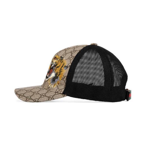 da4b4f0f7 Lyst - Gucci Tigers Print Gg Supreme Baseball Hat Men