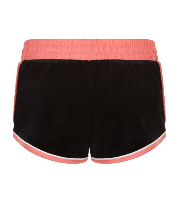 Lyst - Juicy Couture Behati Velour Shorts In Black